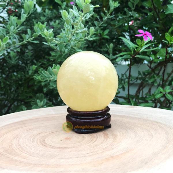 Quả cầu canxit vàng - Phong thủy Hàn Long